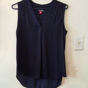 Vince Camuto navy blue blouse